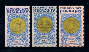 [72472] Paraguay 1965 Olympic Games Tokyo Coins on Stamps Airmail Set MNH