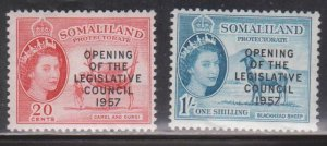 SOMALILAND PROTECTORATE Scott # 140-1 MH - With Overprint
