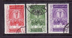 Malaya Federated-Sc#91-3-used set-1st Federal Parliament-1959-