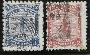 New Zealand OY2-OY3 Life Insurance Department 1891