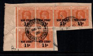 Cayman islands mr6 used block of 6 cat $15.00 aaa