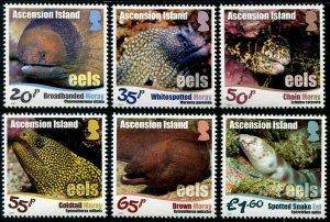 HERRICKSTAMP NEW ISSUES ASCENSION Sc.# 1177-82 Eels