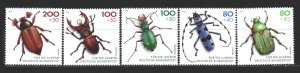 Germany. 1993. 1666-70. Insects. MNH.