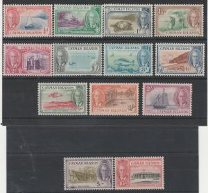 CAYMAN ISLANDS 1950 KGVI PICTORIAL SET
