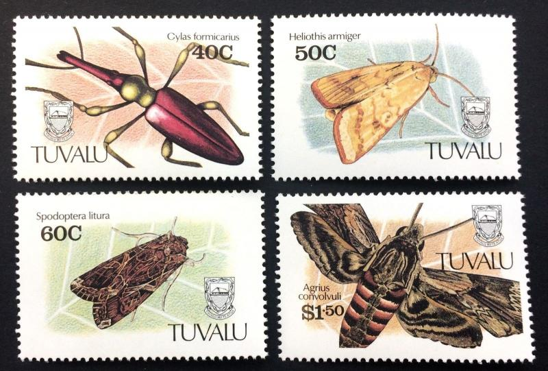 Tuvalu 1991** Mi.587-90. Insects MNH [21;86]