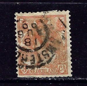 Netherlands 61 Used 1898 issue few short perfs