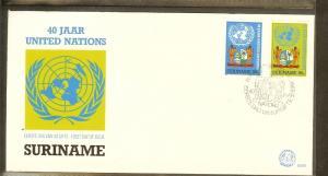 1985 - Rep. Surinam FDC E092 - Organizations - VN/UNO - 40 years [LN007]
