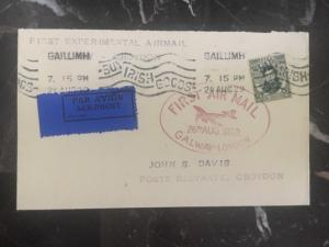 1929 Ireland First Experimental Flight cover FFC Galway London To Croydon