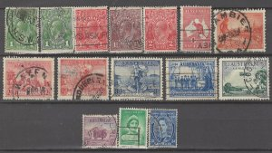 COLLECTION LOT # 3019 AUSTRALIA 15 STAMPS 1913+ CV+$36