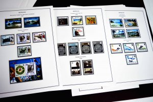 COLOR PRINTED BERMUDA 2000-2020 STAMP ALBUM PAGES (55 illustrated pages)