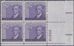1105 Mint,OG,NH... Plate Block of 4... SCV $1.00