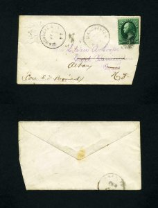 # 184 cover Manchester, VT to Great Barrington, MA fwd to Albany, NY - 2-23-1880