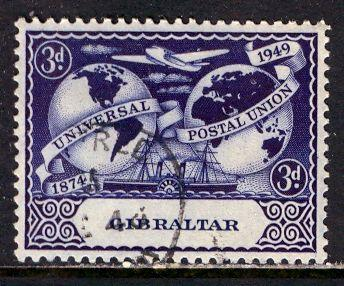 Gibraltar; 1949: Sc. # 124: O/Used Single Stamp