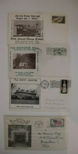 New Castle PA Stamp Club Philatelic Exposition Cachet Cover 1958-1966 inserts