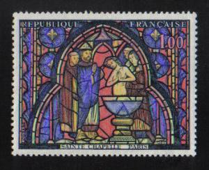 France  #1151   1966  MNH French art   Saint Chapelle stained glass