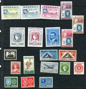 Australia S.Africa Norway St.Helena New Zealand Uruguay 1955/6 Cent. stamps 7888