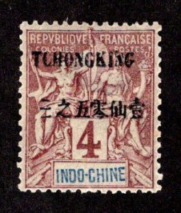 FRANCE - OFFICES IN CHINA - TCHONGKING SC# 3  FVF/MOG  1903