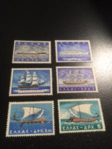 Greece sc 618-623 MLH comp set ships