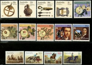 AUSTRALIA Sc#963//1014 1985-1987 Six Complete Sets OG Mint Never Hinged