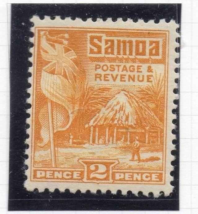 Samoa 1920s Early Issue Fine Mint Hinged 2d. 174670