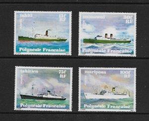 FRENCH POLYNESIA #307-10  SHIPS  MNH