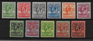 FALKLAND ISLANDS SG116/26 1929 WHALES & PENGUINS SET MTD MINT