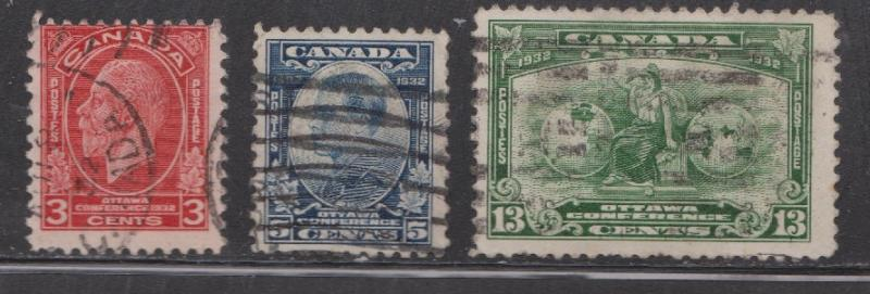 CANADA - Scott # 192-4 Used Imperial Economic Conference Issue