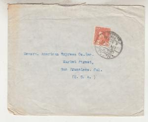 IRAQ, 1941 cover, Baghdad to USA, 20f.