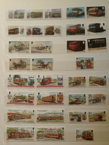 IOM Isle of Man Buses Trams Trolly Buses Transport MNH Stamps 2019 Manx Buses