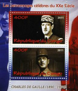 GENERAL CHARLES DE GAULLE 1890-1970 sheet Perforated Mint (NH)