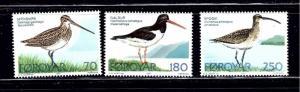 Faroe Is 28-30 MNH 1977 Birds
