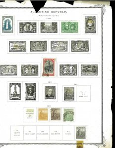 Argentina 1880's - early 1970's M & U on various pages & Loose