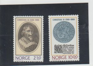 Norway  Scott#  932-933  MNH  (1988 Reign of Christian IV)