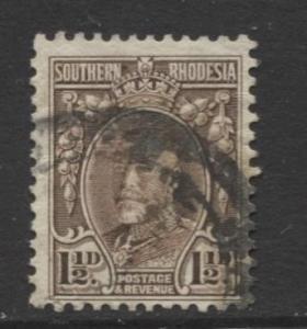 Southern Rhodesia- Scott 18 - KGV -Definitives  -1931 - FU - Single 1.1/2d Stamp