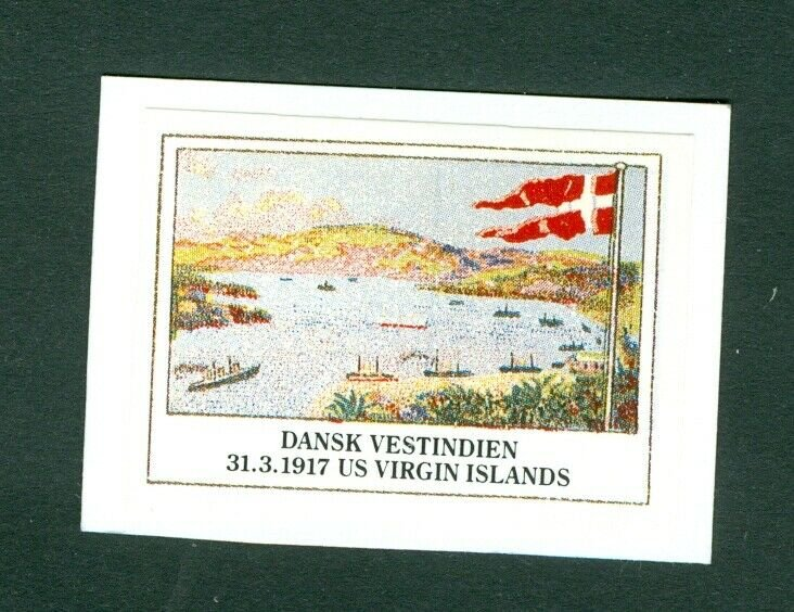 Danish West Indies. Poster Stamp. D.W.I. 31.3.1917US Virgin Islands.Reprint