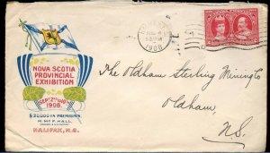 Nova Scotia Provincial Exhibition colour ad 1908 TERCENTENARY cover Canada