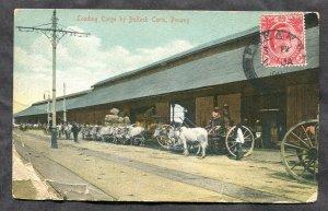 3578 - STRAITS SETTLEMENTS 1911 Penang Postcard to CANADA