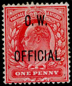 SGO37, 1d scarlet, M MINT. Cat £575.
