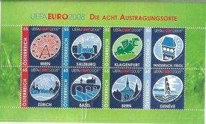 2008    AUSTRIA  -  SG. MS 2901  -  EURO FOOTBALL CHAMPIONSHIPS  -  MNH