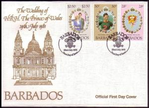 Barbados Royal Wedding FDC