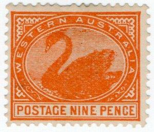 (I.B) Australia Postal : Western Australia 9d Orange (SG 145)