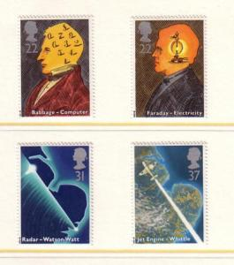 Great Britain Sc1360-3 1991 Scientists stamp set NH