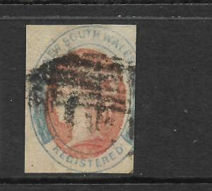 NEW SOUTH WALES 1856-59    6d  REGISTERED  QV  IMPERF  FU    SG 102