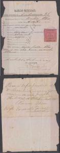 PUERTO RICO 1897-98 REVENUES ARECIBO MNCPL. TAX CATTLE EQUINE Forbin 10 DOCUMENT