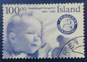 Iceland Hringurin Women's Society Centenary Stamp Scott # 1018 Used (I890)