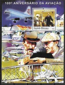 Guinea-Bissau MNH S/S 100th Anniversary Of Aviation Wright Bros. 2003