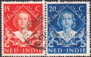 Netherlands Indies #293a-293b  Used