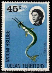 British Indian Ocean Territory BIOT Scott 23 Used Garfish stamp