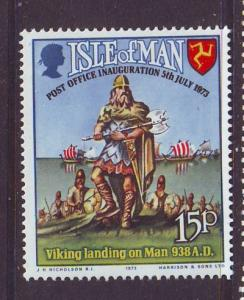 Isle of Man Sc 28 1973 Viking stamp mint NH