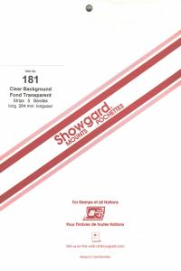 SHOWGARD CLEAR MOUNTS 264/181 (5) RETAIL PRICE $18.50